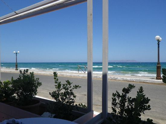 Gouves Sea and Mare Hotel & Suites : View from Beach Bar