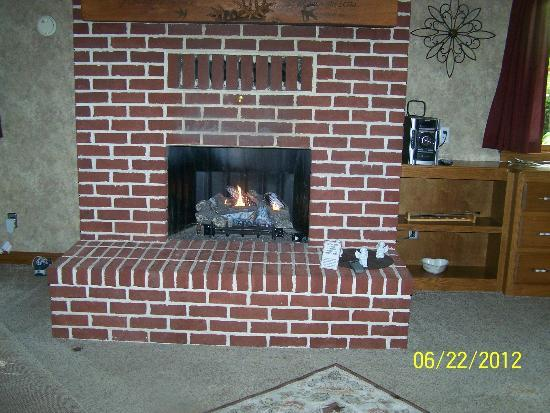 Donna's Premier Lodging: The fireplace