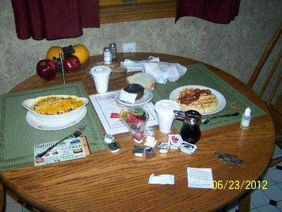 Donna's Premier Lodging: The breakfast we had delivered