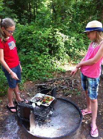 First Landing State Park: We enjoyed a Sunday brunch of roasted vegetables we grew ourselves along with grilled sausage! R