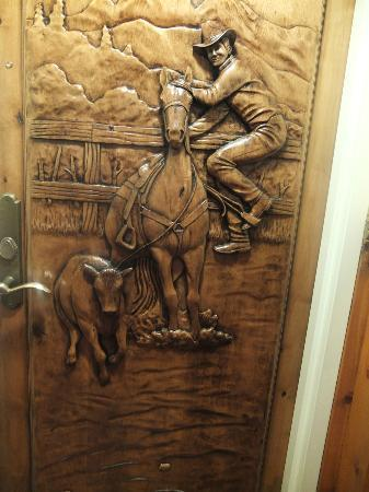 The Wort Hotel: Our bedroom door to the Cowboy Suite