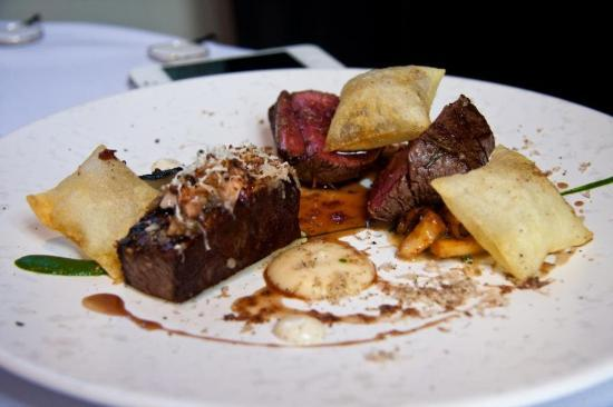 The Ledbury: Saddle of Berkshire Roe Buck with White Beetroot, Red Wine Lees and Smoked Bone Marrow