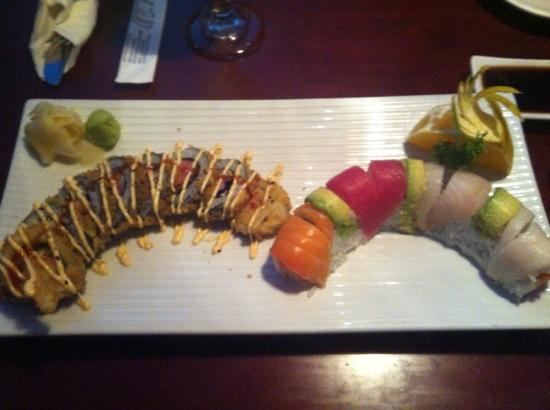 Thai Hana: best deal and sushi in town. the servers are very attentive and helpful. I got all this food on