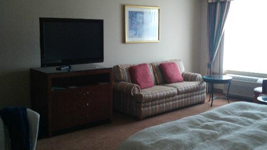 Hilton Garden Inn St. Charles: hotel room couch