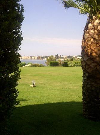 Hotel Ariane: Vue du parc derrière la piscine