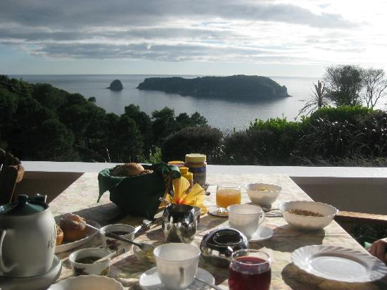 Spellbound Bed & Breakfast/Homestay: Breakfast - what a view..what a breakfast!