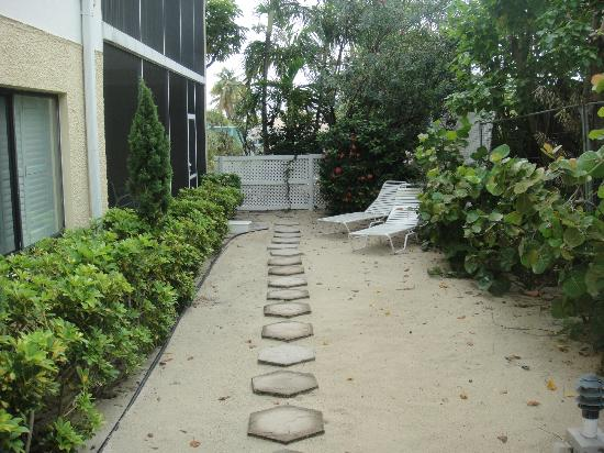 The Anchorage Condominiums: path to Unit 1 from the beach!