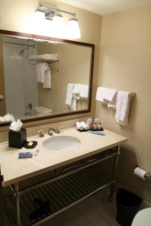 Sheraton Louisville Riverside Hotel: The clean bathroom