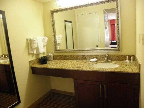 Residence Inn Jacksonville Baymeadows: large lavatory area - all accommodations, same size