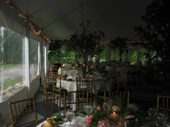 "Belvedere Mansion: A peek at our ""enchanted forest"" at Belvedere in the reception tent."