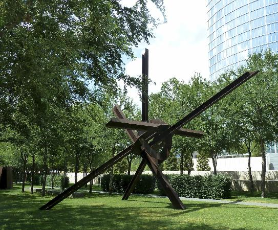 Nasher Sculpture Center Garden With Museum Tower In Upper Right
