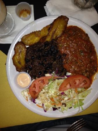 Boricuba: Smothered shredded beef!