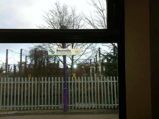 Bromsgrove Hotel & Spa: On the train passing through Bournville!