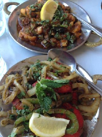 Kurry Kabab : veggies and Padang shrimp