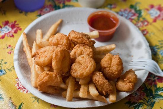 Green Pond Fish Market: Fried shrimp plate