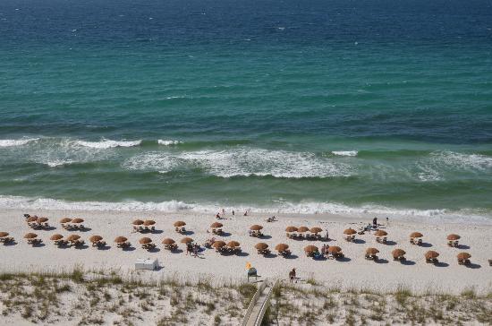 بيتش كلوب ريزورت ريزيدانس آند سبا: View of Beach from 11th floor balcony (straight out) 