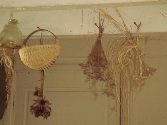 Historic Cold Spring Village: Dried herbs in kitchen