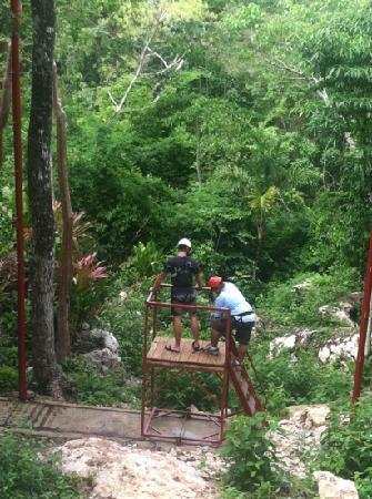 Belize Magnificent Mayan Tours: just finished the Tarzan swing at calico jacks. well worth the extra ten bucks!