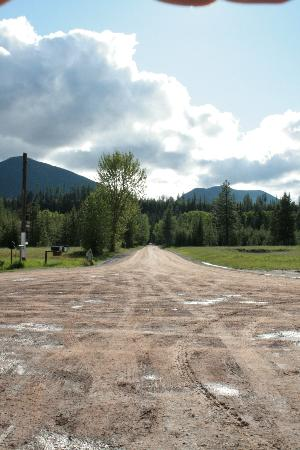 Polebridge Mercantile and Cabins: Main Road in Polebridge