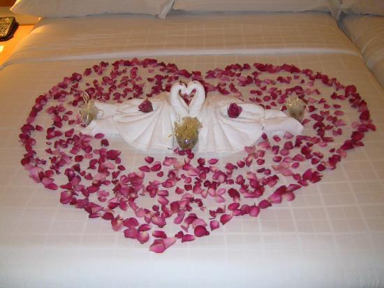 Siam Bayshore: Roses Petals in Form of Love Shape
