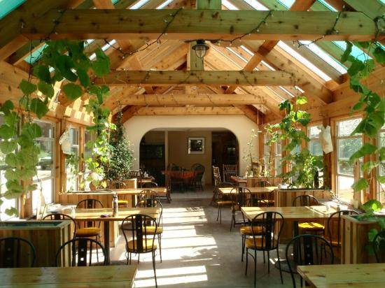 Sleep is for Sissies: Timber Framed Solarium Dining Area