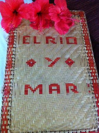 El Rio y Mar Resort: the menu explain everything and shadual for activity