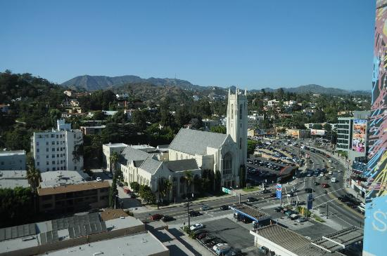 Loews Hollywood Hotel: view from my room- Hollywood sign far view