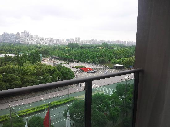 Dorsett Shanghai: View from room. New Century Park