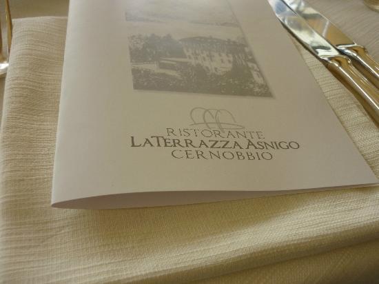 Asnigo Hotel: menu'