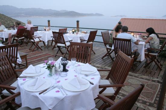 Kas Diva Residence Hotel Restaurant: Diva Restaurant terrasse