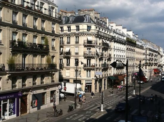 Hotel Paris Rivoli: View from our balcony