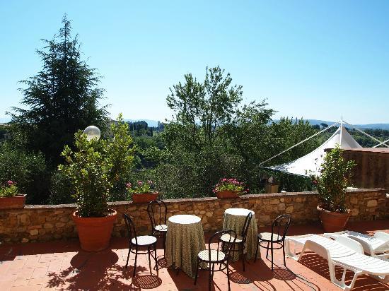 Villa Il Fedino: view from room lorenze