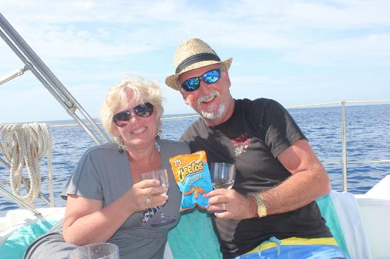 Wardi Navy Service: Champagne and Cheetos. Nothing but class.....