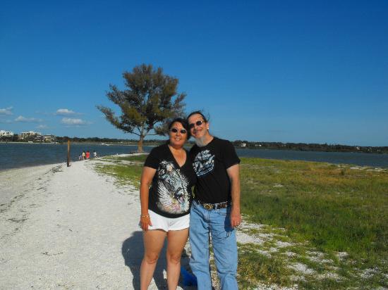 Dolphin Encounter: us on the island