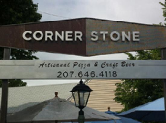 Cornerstone - Artisanal Pizza & Craft Beer: cornerstone sign