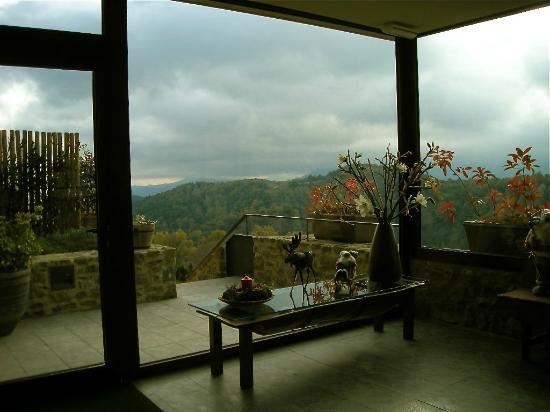Finca El Ventos: view from lobby