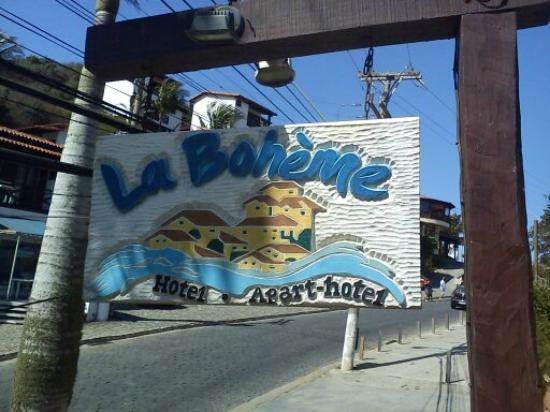 La Boheme Hotel e Apart Hotel: el recuerdo del cartel de entrada