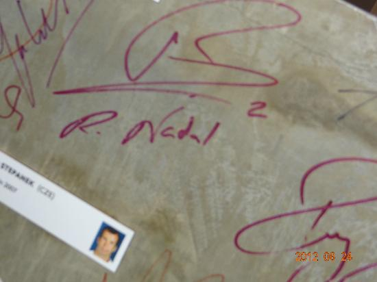 That S Rafael Nadal S Autograph On The Wall Picture Of Stade Roland Garros Paris Tripadvisor