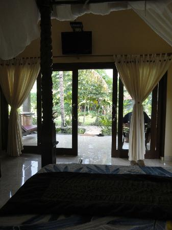 Bali Bhuana Beach Cottages: from inside, looking out