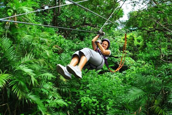 Rincon de la Vieja Mountain Lodge Canopy Tour: Weeeeeee!