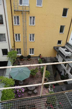 "Hotel Schlicker ""Zum Goldenen Loewen"": View from Room - Hotel Courtyard"