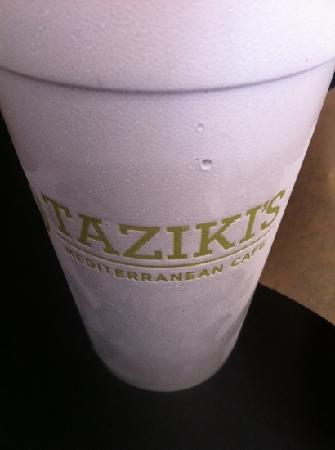 Taziki's Mediterranean Cafe : drink the water