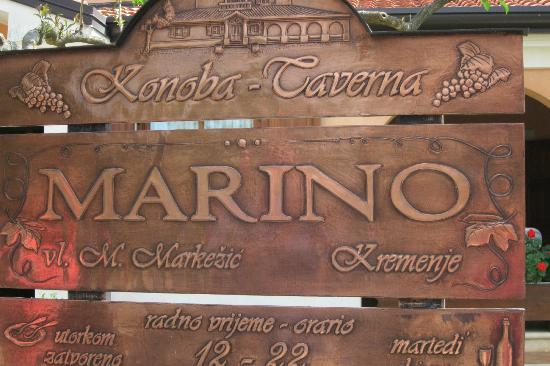 Restaurant Marino Kremenje: sign