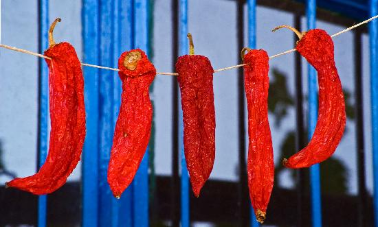 Peppers Drying at CasaDoria