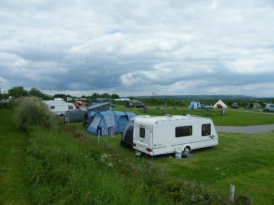 Pitton Cross Caravan & Camping Park : Stone circle field