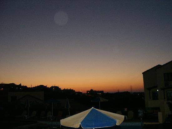Dream Village: sunset from room 104