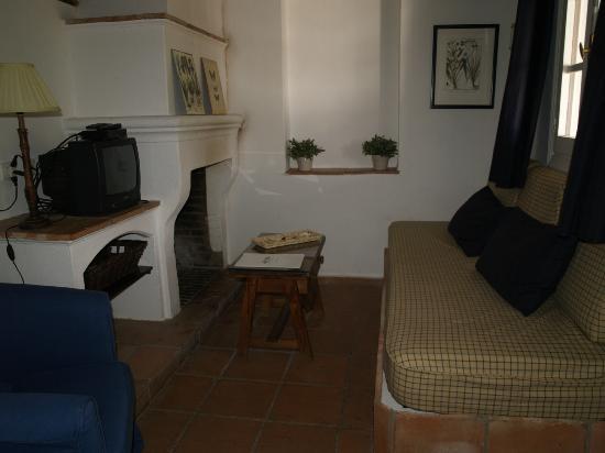 Hotel Finca Valbono: zithoekje