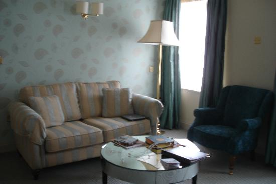 The Old Ground: This was the sitting room in our suite, well flash.
