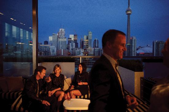 Thompson Toronto - A Thompson Hotel: The view from the Rooftop Lounge!