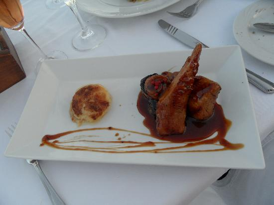 Table view picture of ambrosia restaurant oia tripadvisor for Ambrosia mediterranean cuisine